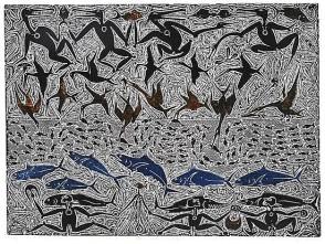 Dennis Nona Sakal Zagal Paliak (2000) linocut