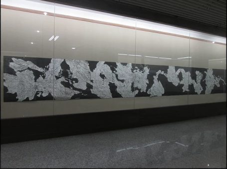 IMPACT 9 International Printmaking Conference Printmaking in the Post-Print Age 1440 cm woodcut print Mindful Repetitions at China Academy of Art, Hangzhou September/October 2015